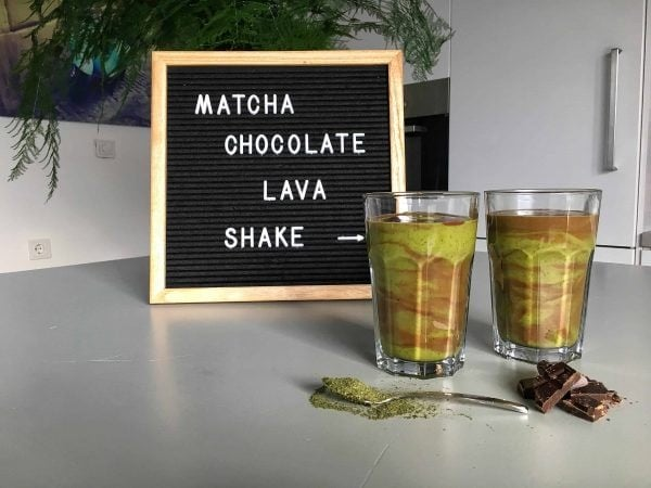 Matcha Chocolate Lava Shake