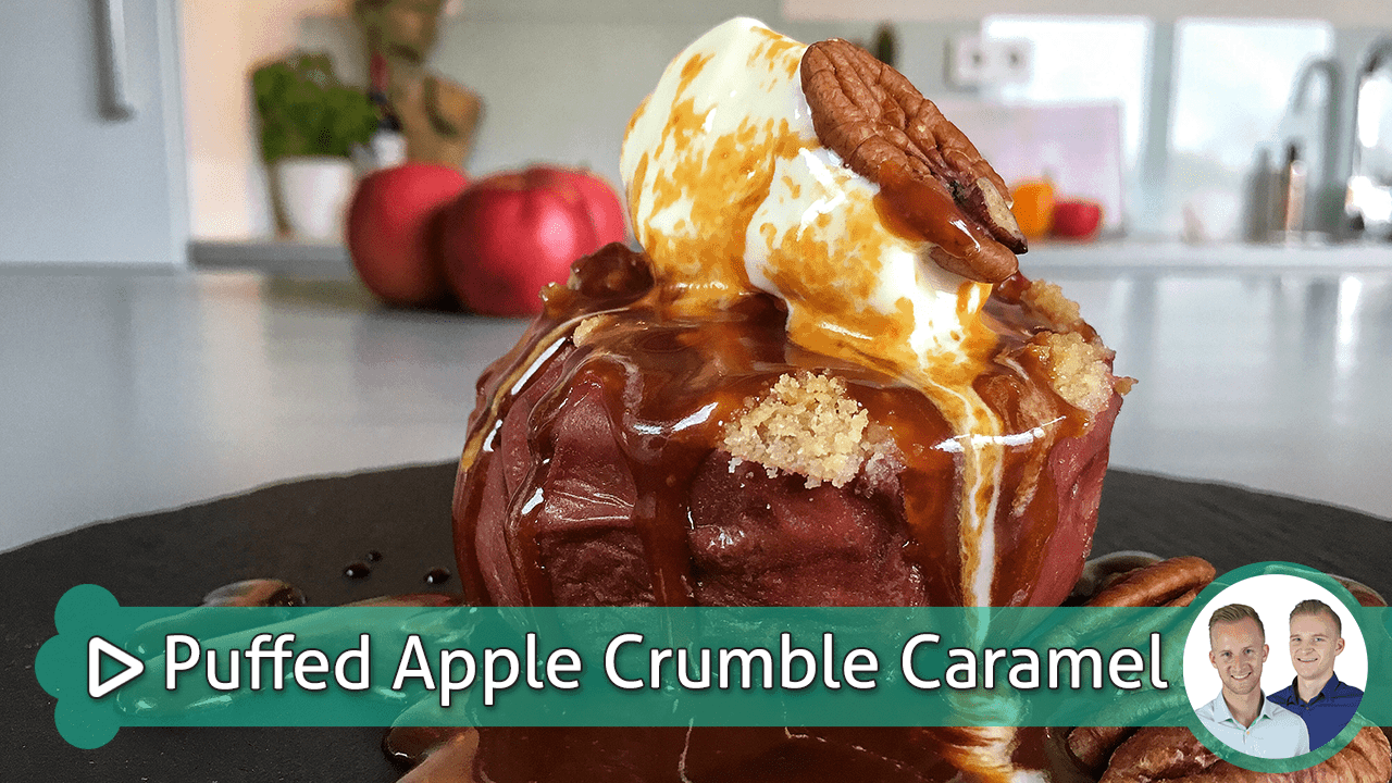 Puffed Apple Crumble Caramel