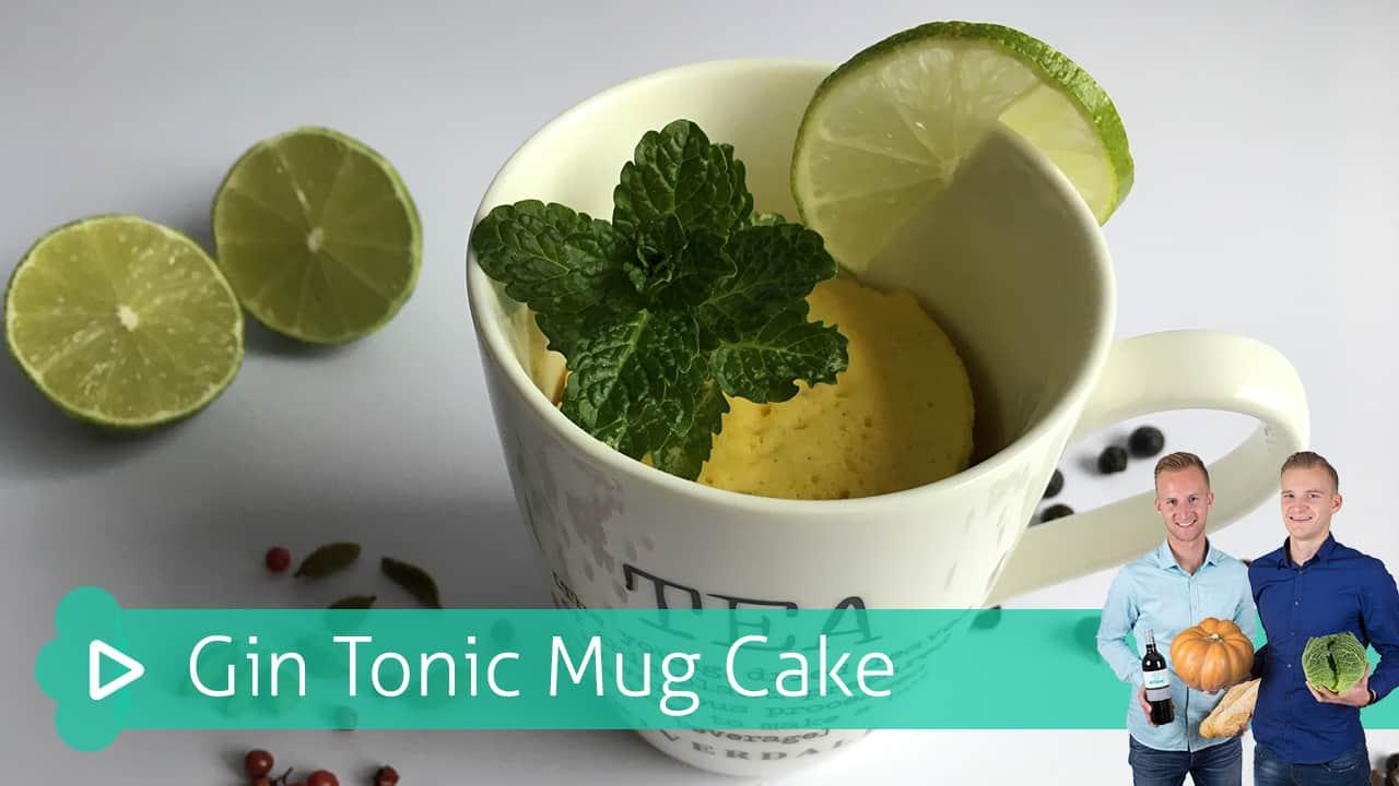 gin tonic mug cake
