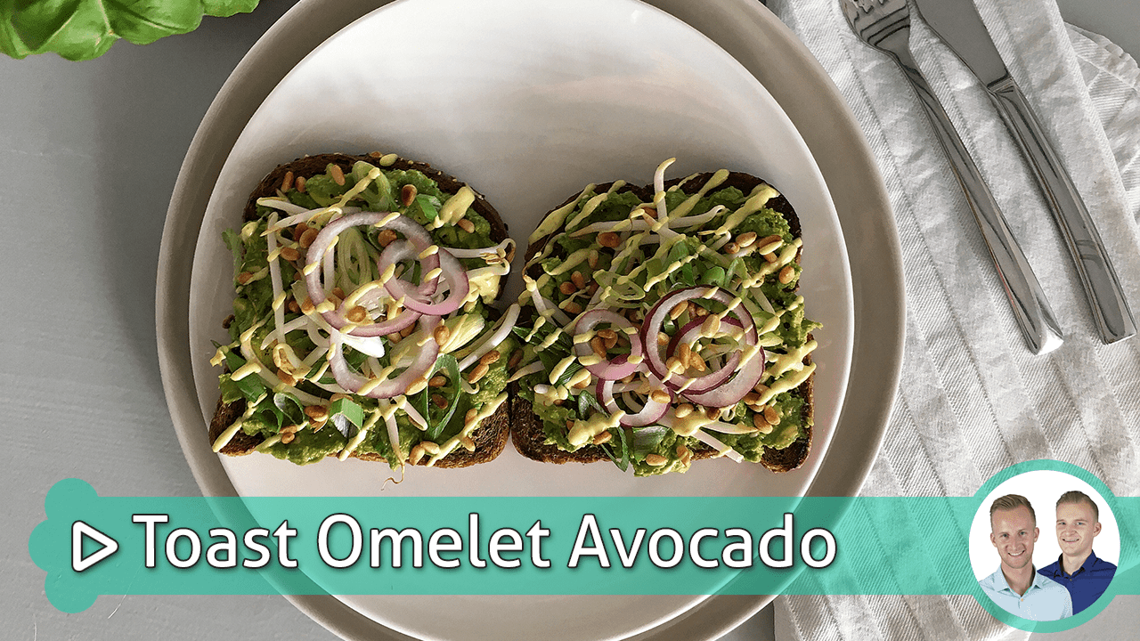 toast omelet avocado