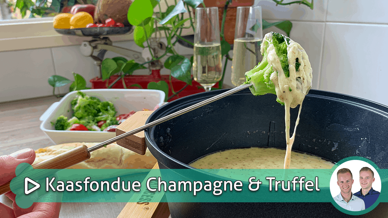 kaasfondue met champagne & truffel