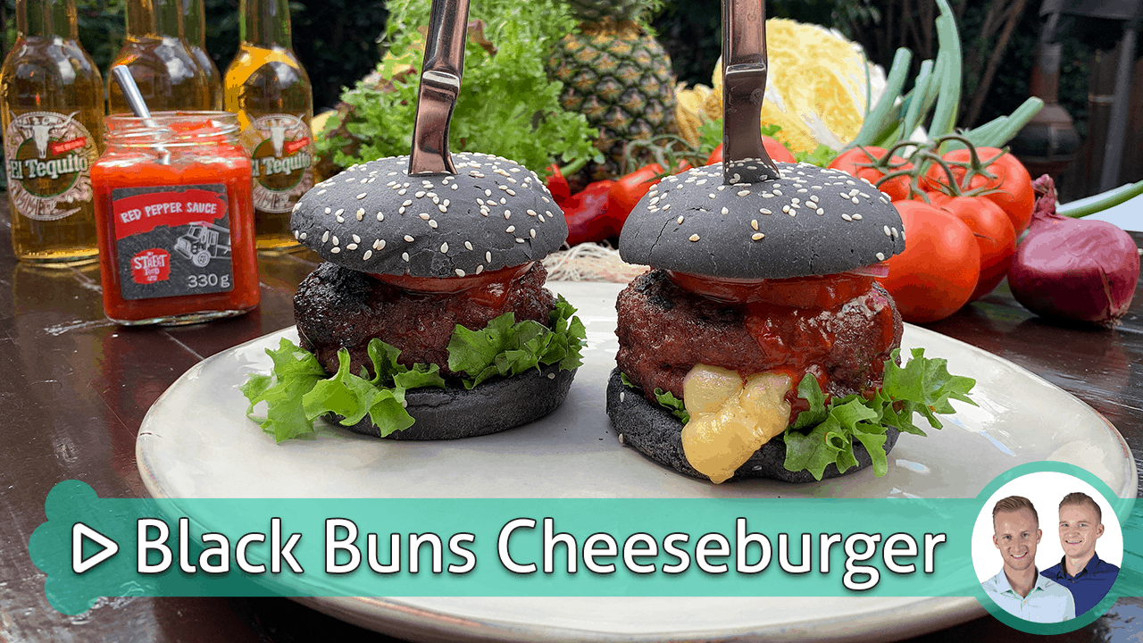 Black Bun Cheeseburger