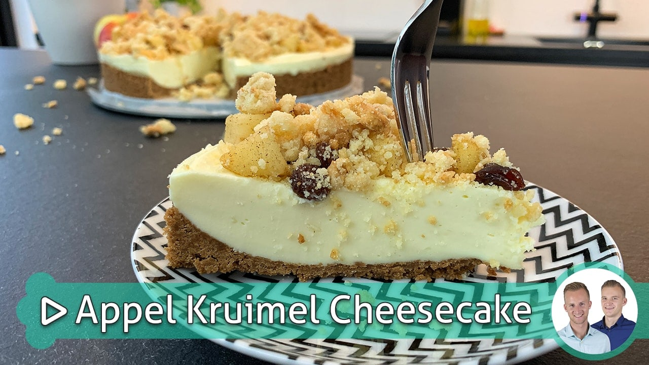 Appel Kruimel Cheesecake