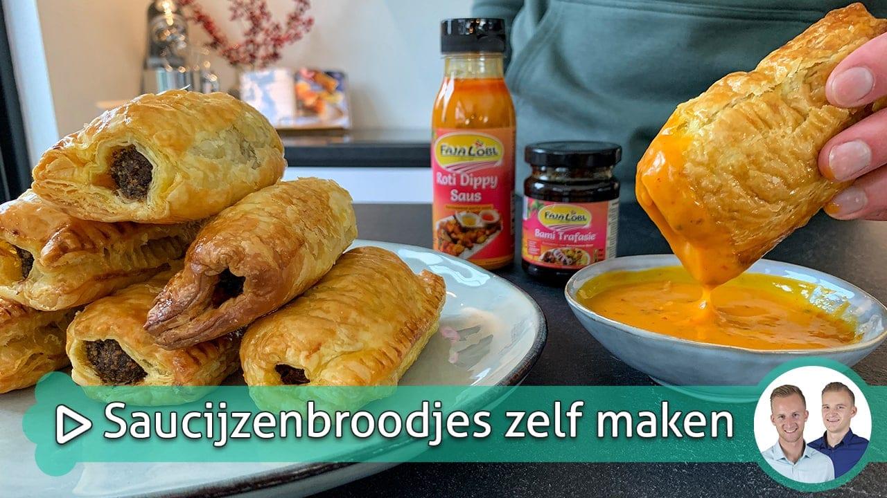 Saucijzenbroodjes zelf maken