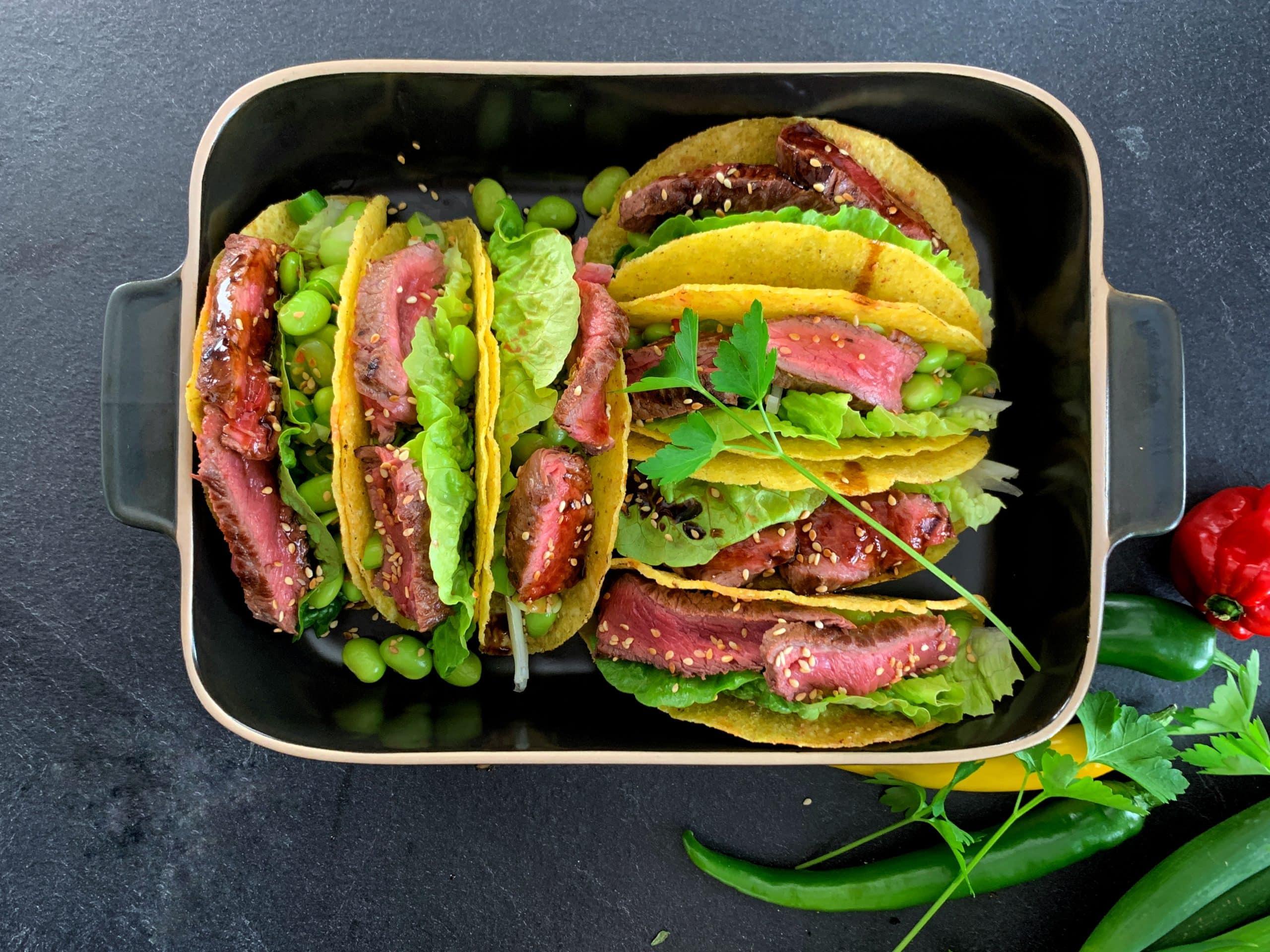 Beef Teriyaki Tacos